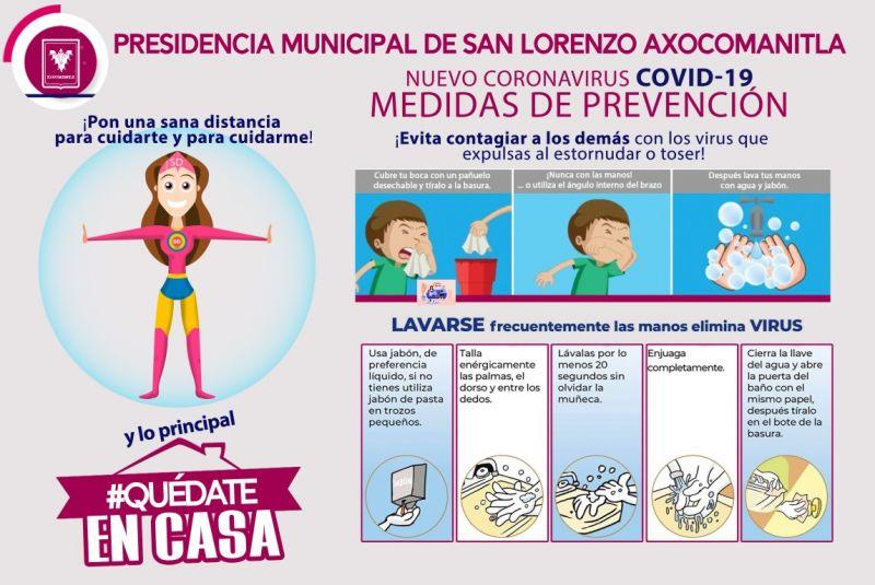 MEDIDAS DE PREVENCIÓN PARA EVITAR EL CONTAGIO DEL COVID-19